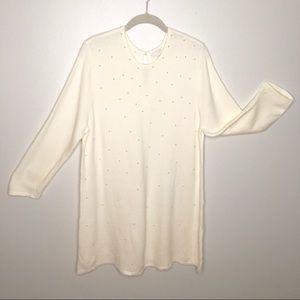 J.Jill Pearl Front Sweater Tunic EUC